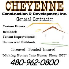 about cheyenne construction phoenix custom home builder