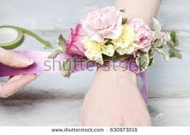 how to make wrist corsage corsage stock images royalty free images vectors