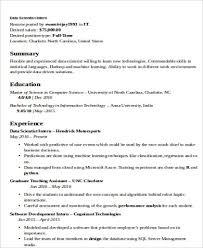 Unc Resume Builder Data Scientist Resume Example 4724