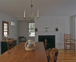 board and batten for a traditional dining room with a antiques and