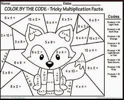 Color By Number Math Worksheets Color Number Math Worksheets Nd Grade With Grade Coloring Sheets