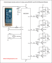 simple android bluetooth remote control project for 2 relays using