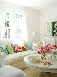Floral Living Room Furniture White Living Room Ideas Delicate Floral Living Space White Living
