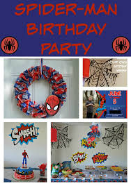 Spiderman Decoration A Spidery Spider Man Birthday Party Building Our Story