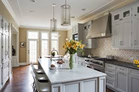 winnetka old green bay home design remodeling gallery modern kitchen design with white cabinets and modern kitchen island in winnetka