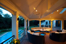 Porch Sconce Great Screen Porch Contractor In Vienna Va With Azek Pvc Pool Decking