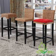 china manufacturer vintage rattan bamboo wooden high chair bar