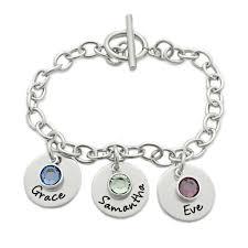 chain link charm bracelet images Link charm bracelet with names personalized bracelet oaklee mae jpg