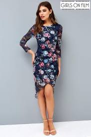 buy girls on film lace printed bodycon dress from the next uk