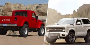 jeep truck 2 door 2017 jeep wrangler pickup vs 2020 ford bronco which daydream 4x4