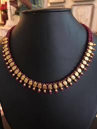 necklace designs with beads images Ruby and emerald beads necklace design jpg