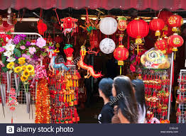 new year lanterns for sale new year decorations for sale on temple chinatown