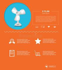 design ventilator flat minimalist template business design ventilator stock vector