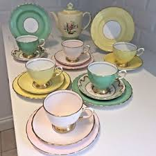 vintage tea set tuscan vintage tea set teapot china harlequin mismatch pink