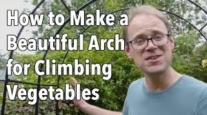 how to build a trellis archway how to make a beautiful arch for climbing vegetables youtube