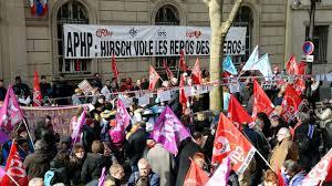 siege aphp manifestation contre la réforme du temps de travail dans les