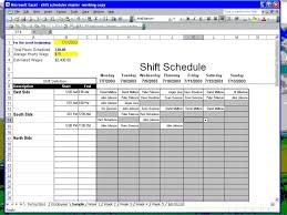 sample schedules employee schedule