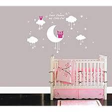 stickers étoile chambre bébé bdecoll bébé chouette sur lune et étoile stickers muraux oiseaux 2 x