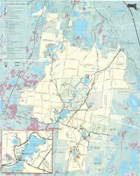 Walking Map Boston by Hiking Trails In Myles Standish State Forest