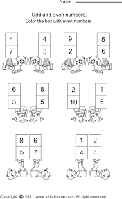 even numbers worksheets
