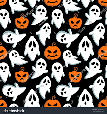 halloween repeating background patterns happy halloween seamless pattern background flying stock vector