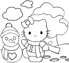 kitty christmas coloring pages coloring pages
