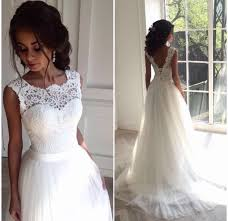 illusion neckline wedding dress illusion neckline wedding dress lace and by prom dresses on zibbet