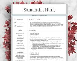 Cover Page Resume Example by Modern Resume Template For Word And Pages 1 3 Page Resume