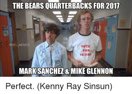 Bears Meme - the bears quarterbacks for 2017 memes vote for pedro mark sanchez