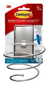 Bathroom Caddy For College by Bath39 Sn Es Commandtm Hair Dryer Holder Satin Nickel Jpg