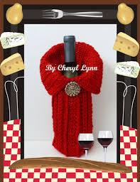 red wine bottle sweater wine bottle cover by bycheryllynn on etsy