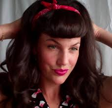 pinup clip in ponytail with bangs super quick and easy faux bettie bangs u shaped fringe how to