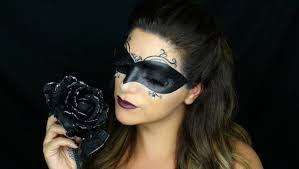 masquerade mask halloween makeup tutorial youtube