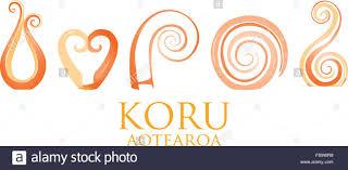 a set of glass maori koru curl ornaments stock vector