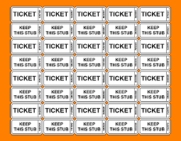 printable tickets template raffle tickets with numbers png