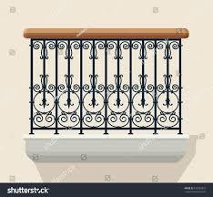 wrought iron balcony vector illustration stock vector 610367972