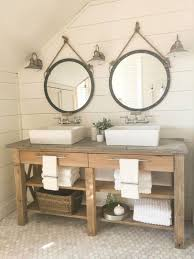 Rustic Bathroom Storage by Rustic Bathroom Vanity With Open Shelves And A Reclaimed