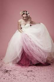 tie dye wedding dress dip dye wedding dress trend will make your big day colorful