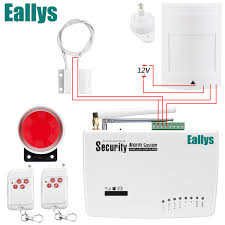 free shipping gsm alarm system for home security system with wired