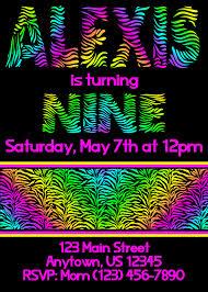 neon party ideas neon party invitations templates free cloveranddot