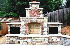 traditional style outdoor fireplace