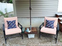 Umbrella Stand Patio Make Your Own Umbrella Stand Side Table A Houseful Of Handmade