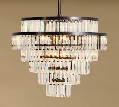Big Chandeliers For Sale Gemma Crystal Tiered Chandelier Pottery Barn
