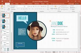 powerpoint resume template resume animated powerpoint template