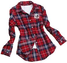 Most Comfortable Flannel Shirt Monogrammed Ladies Plaid Flannel Shirt Flannel Shirts Monograms