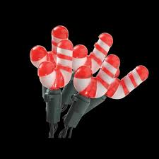 Outdoor Candy Cane Lights by Home Accents Holiday 20 Light Battery Operated Multi Color Candy