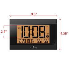 atomic digital desk clock atomic digital wall clock surrey