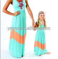 long maxi stripe fashion girls dress birthday dress for baby