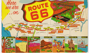 Oklahoma travel maps images Route 66 vintage postcard get your kicks jpg