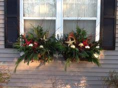 Christmas Decorations For Window Boxes by Christmas Window Box I Made This From Clipped Pieces Of Evergreen